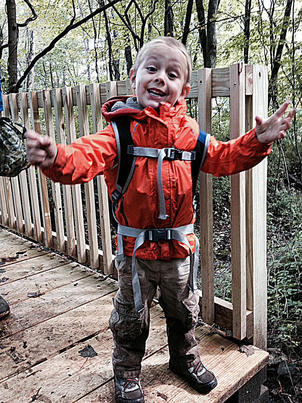 Without rain pants and rain boots, our littlest student came home covered in mud!