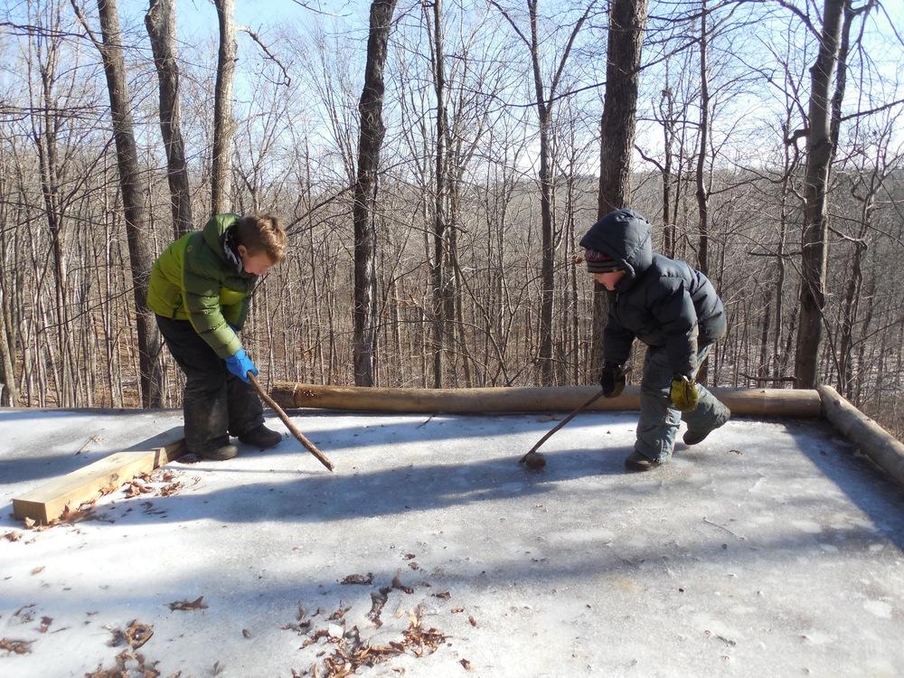 Homemade Ice Hockey Rink