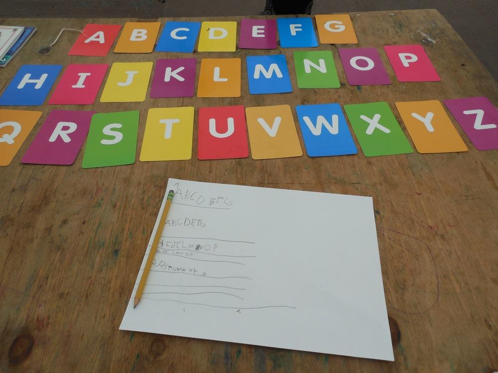 Practicing the Alphabet