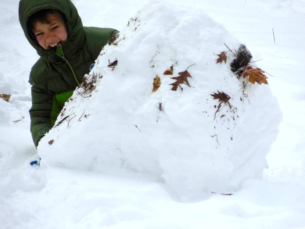 Making a Snow Shelter