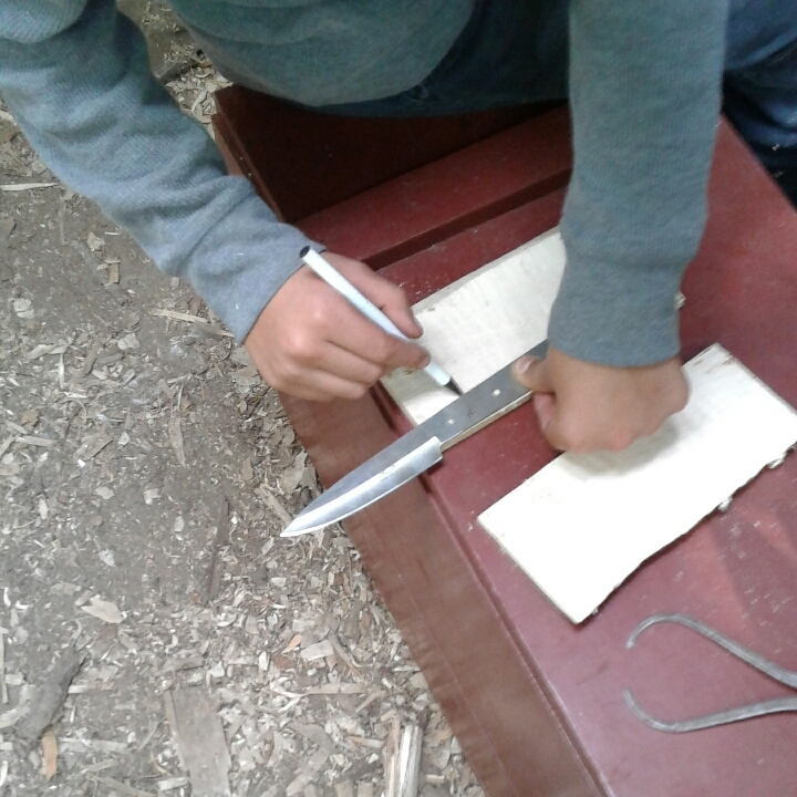 Marking the spots to drill