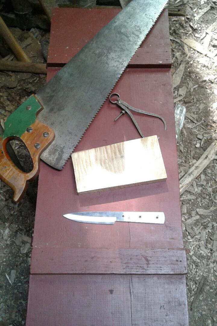 Preparing to make a knife