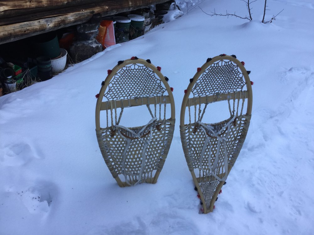 John's hand made snowshoes