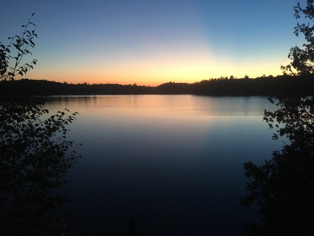Sun set over Bull Dog Lake