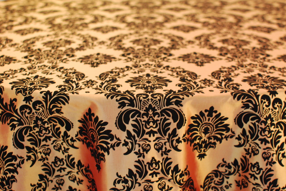 Damask - Black & Gold