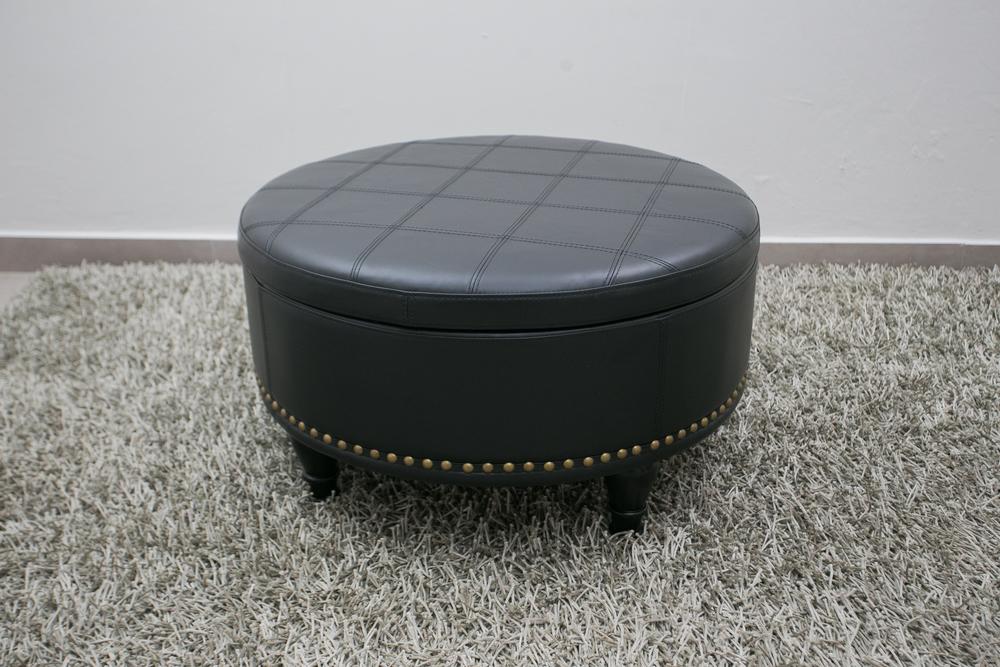 Round Leather Ottoman - Black.jpg