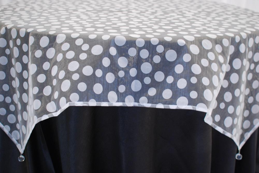 Flocked Dot Design - White