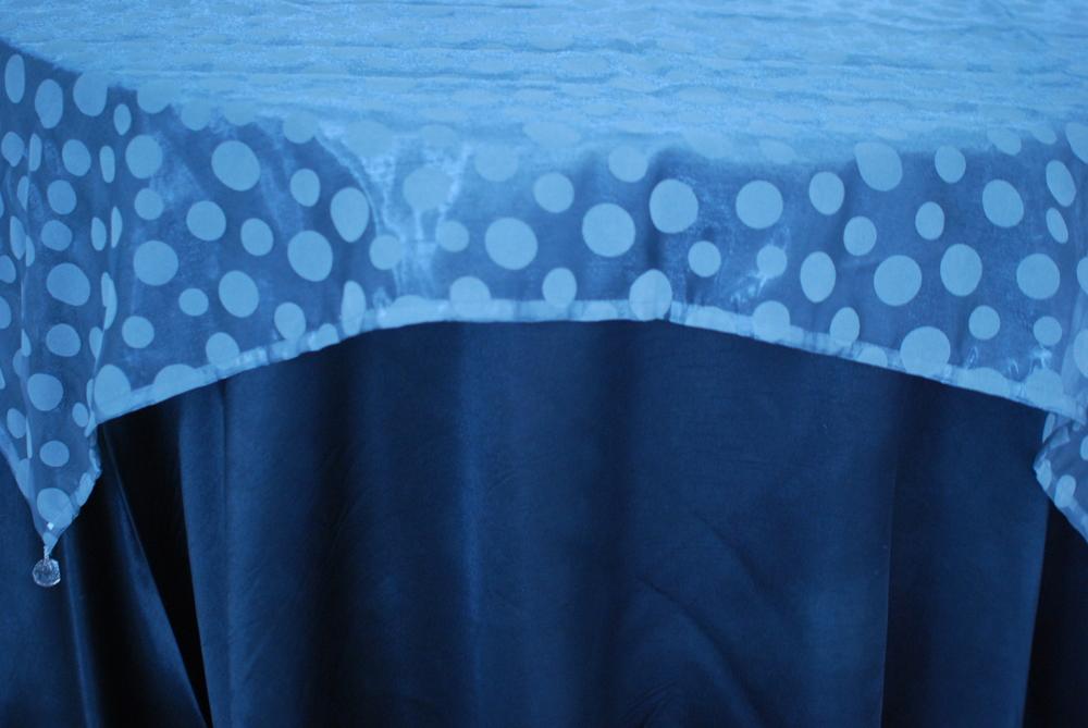 Flocked Dot Design - Blue