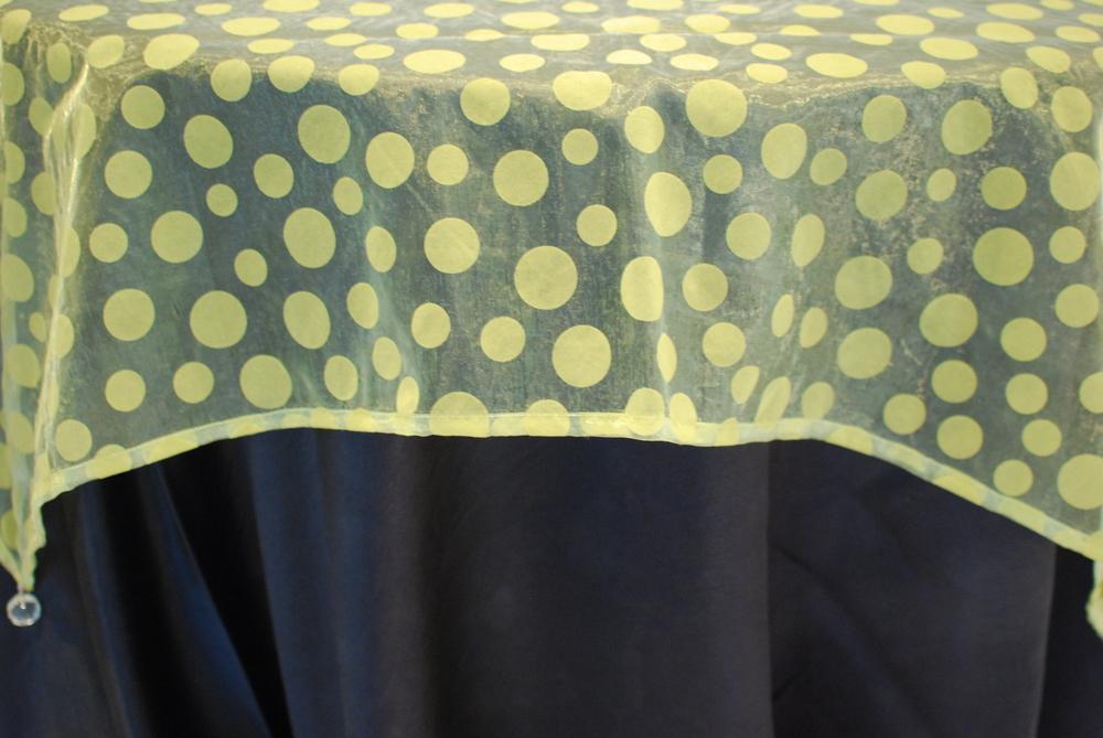 Flocked Dot Design - Yellow