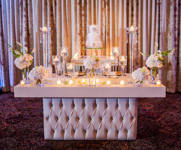 Pearl Ivory Tufted Couple's Table
