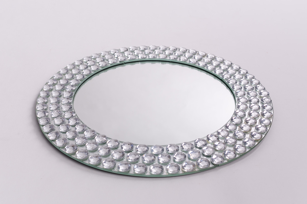 Mirror Beaded Charger