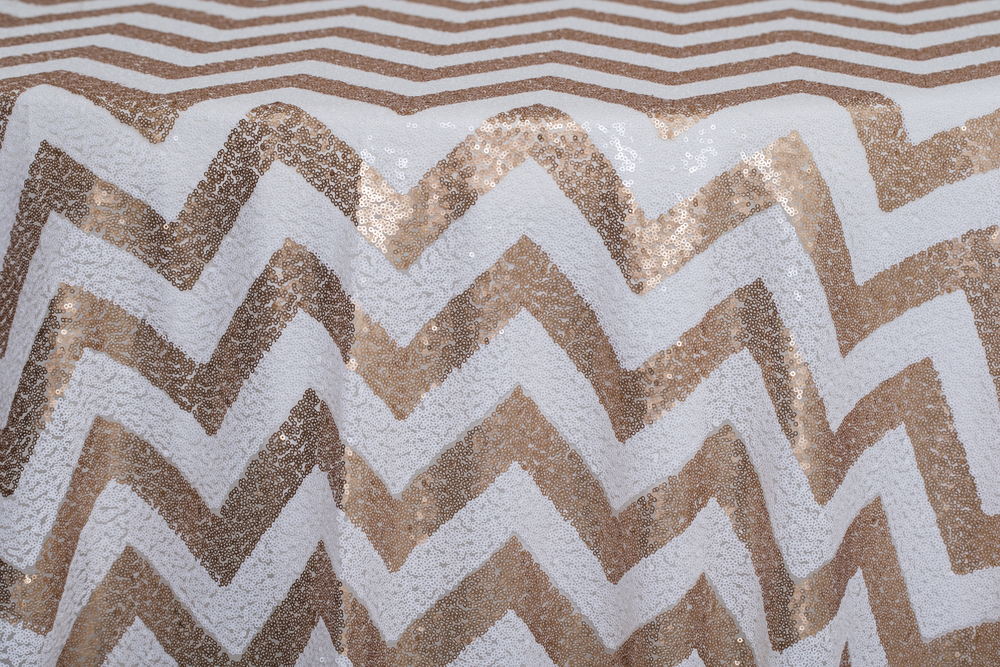 Chevron - Sequins Gold