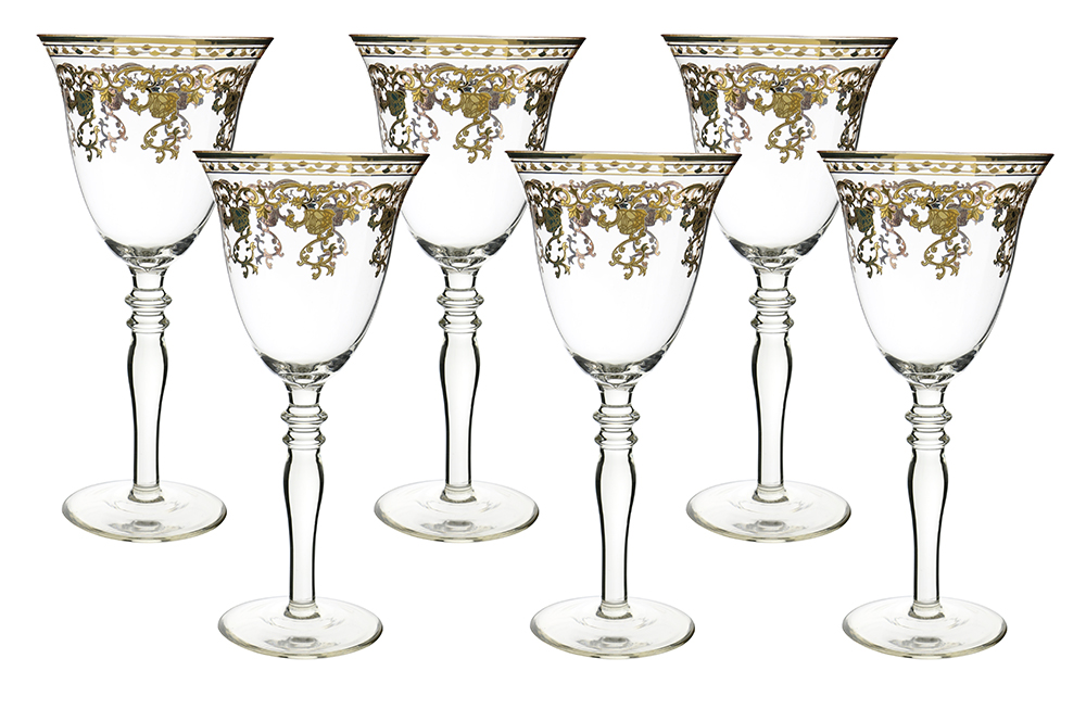 Gold Design Wine Glass