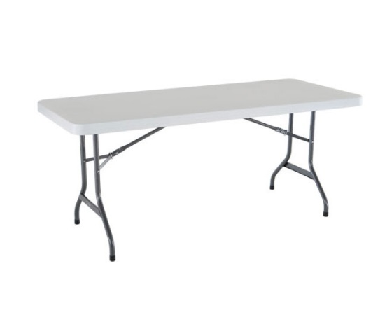 "6' x 30"" Rectangular Table"