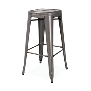 Factory Bar Stool - Gun Metal