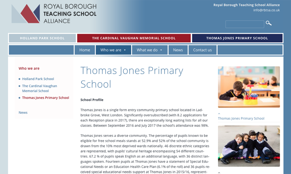Schools Website Photography
