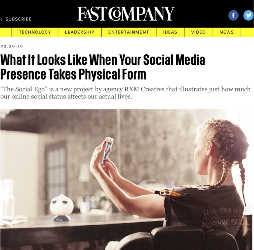 The Social Ego in Fast Company - Published on March 30th, 2016.