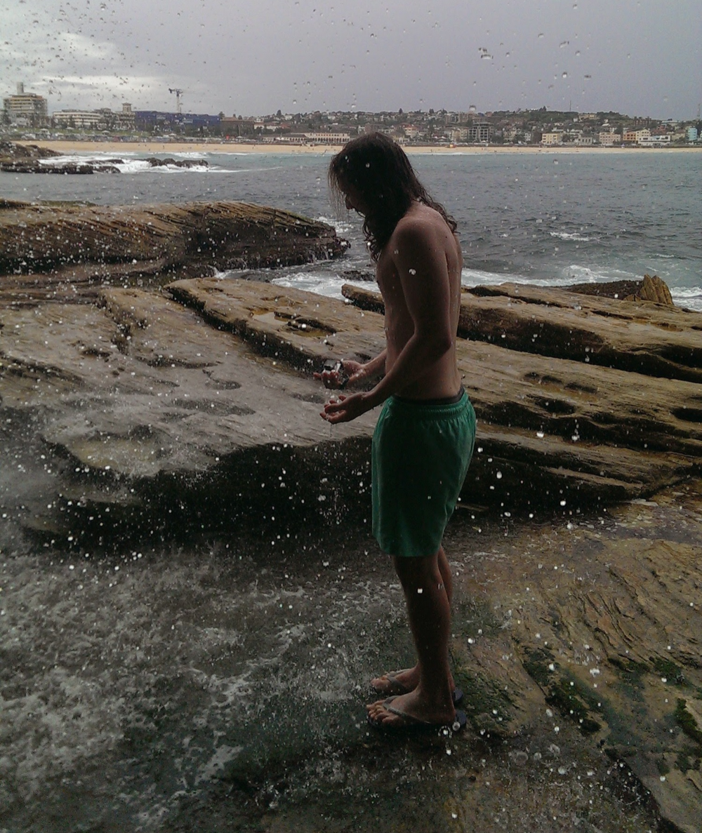 bondi beach waterfall