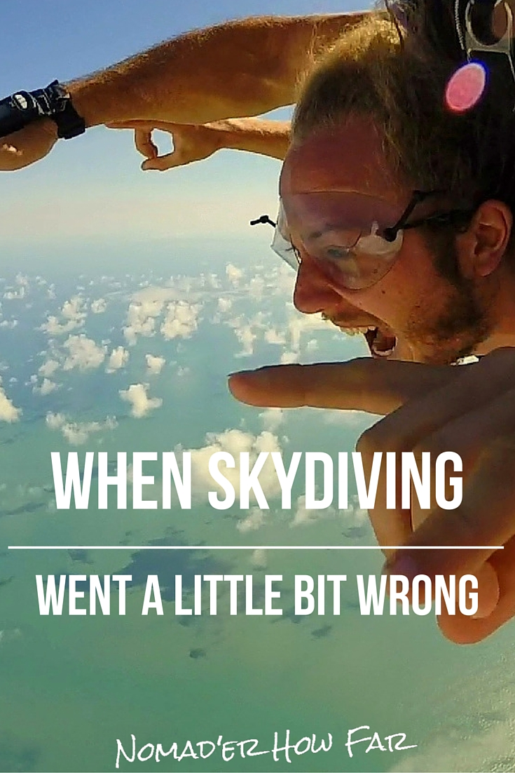 Skydiving went a little bit wrong...