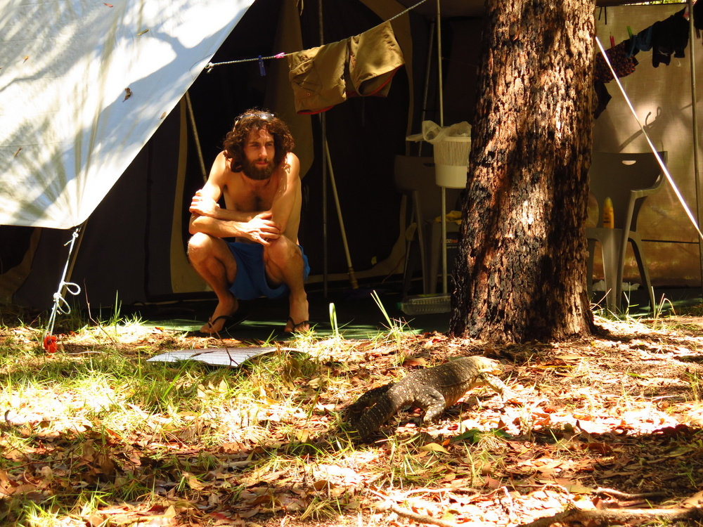 Our tent on Fraser Island, this was our home for 2 months!
