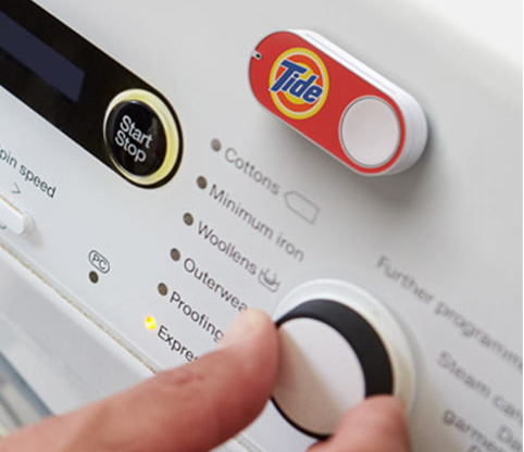 dash button on washine machine