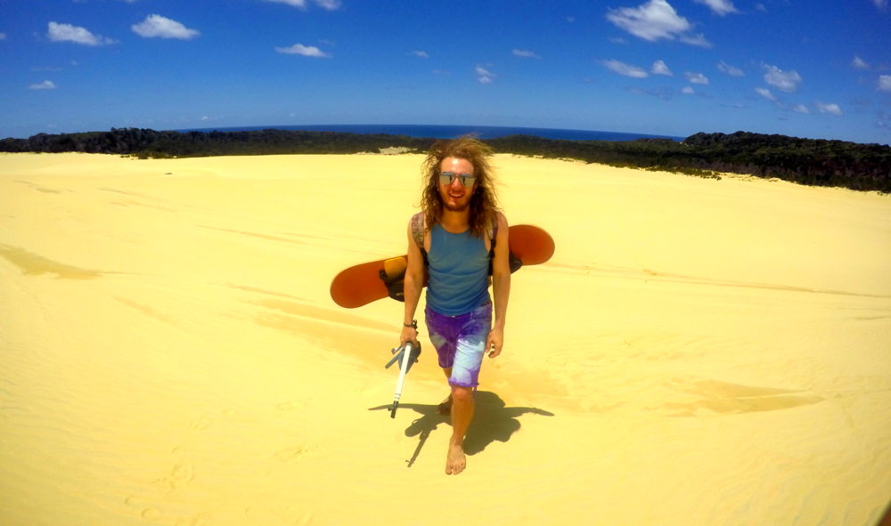 fraser island sand boarding