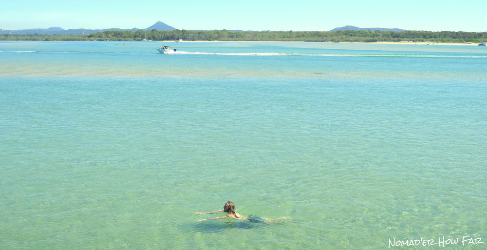 The awesome clear waters of Noosa river.