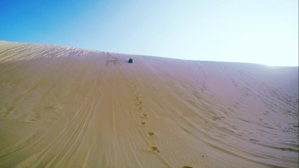 sand boarding fraser