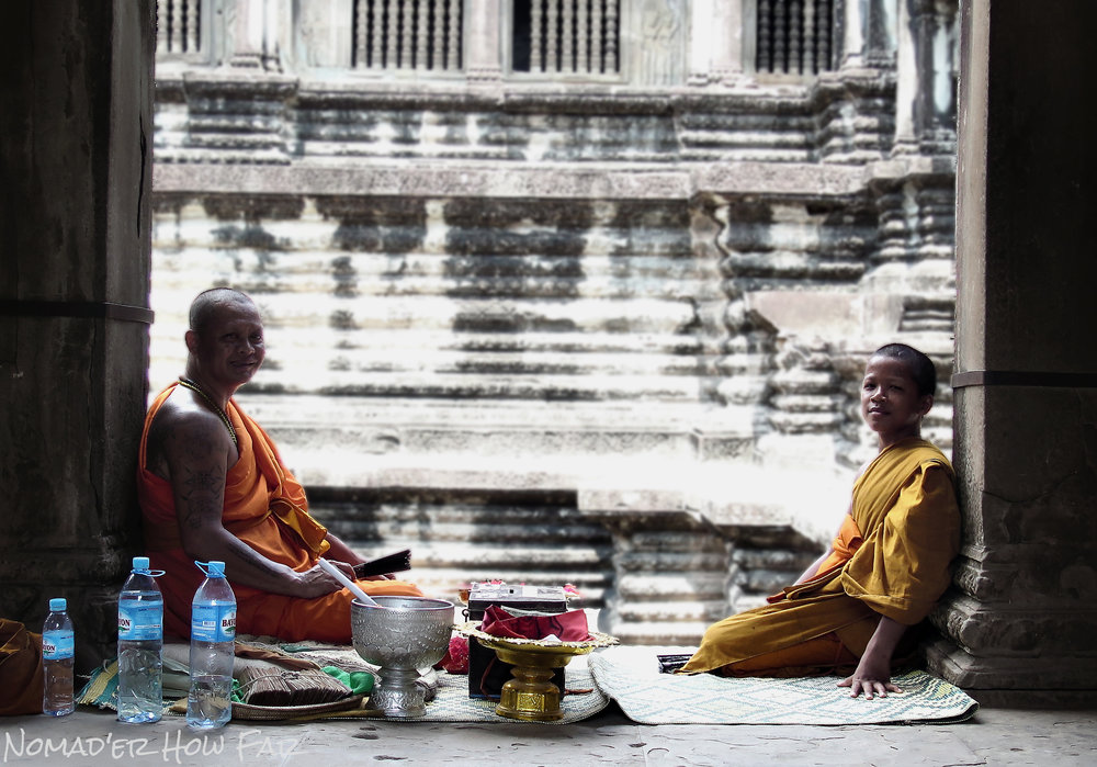 monks sitting