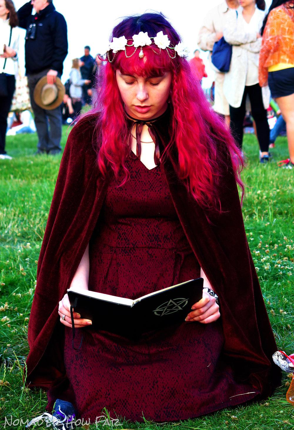 cute pagan girl