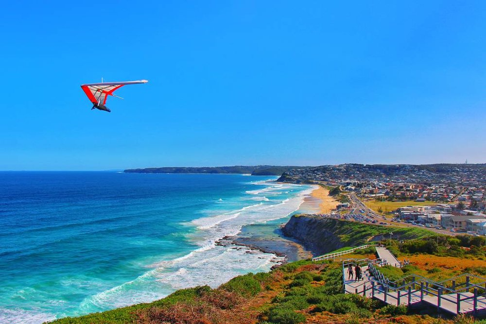 Overlooking one of the thousand beautiful beaches along the coast, Newcastle, Australia