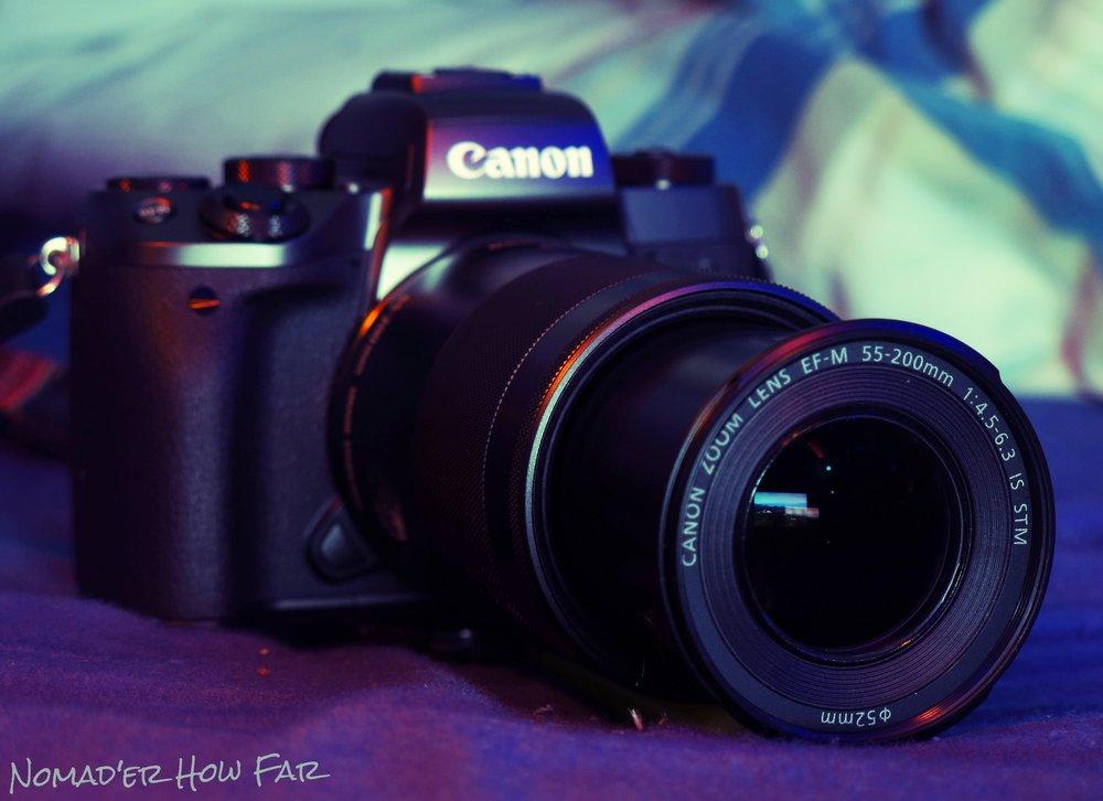 canon ef-m 55mm - 200m lens