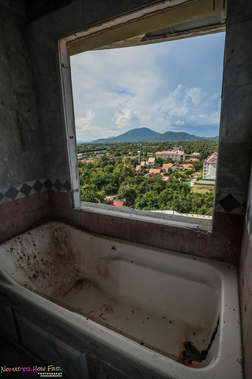 abandoned bathtub