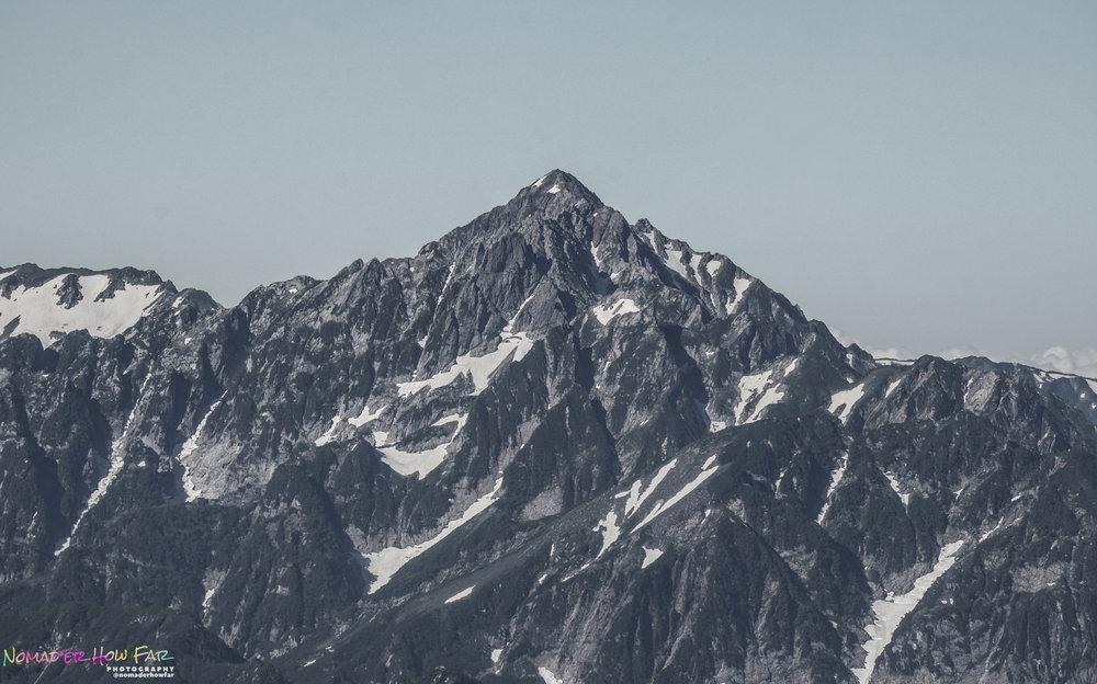 Mount Tsurugi viewed from 10 miles away // Japan