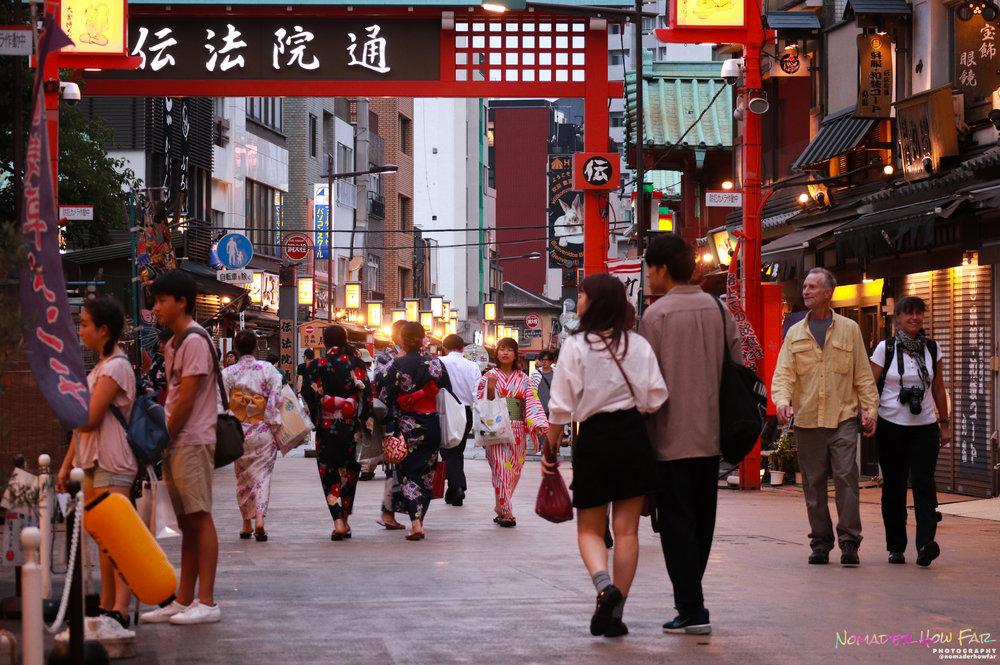 Busy streets // Asakusa, Japan