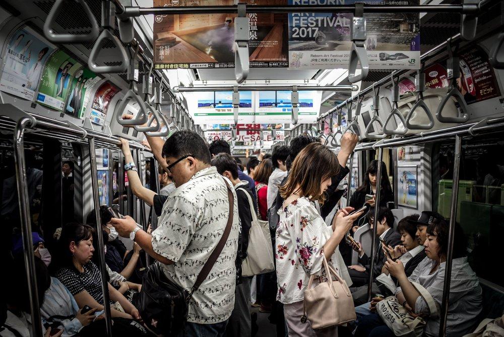 japanese on a train