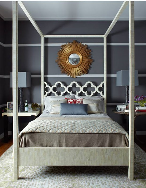 thom-filiicia-dark-grey-room-striped-walls-canopy-bed-quatrefoil-clover-design-white.jpg
