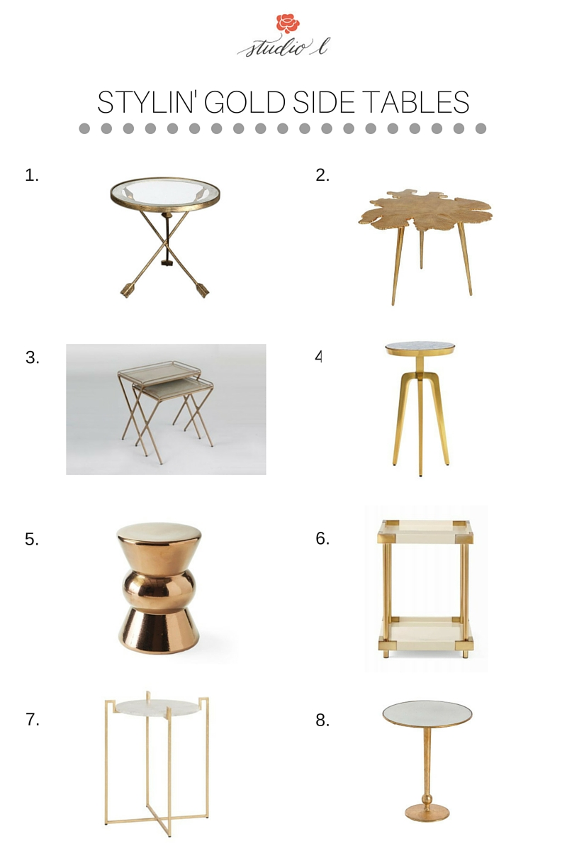 STYLIN' GOLD SIDE TABLES