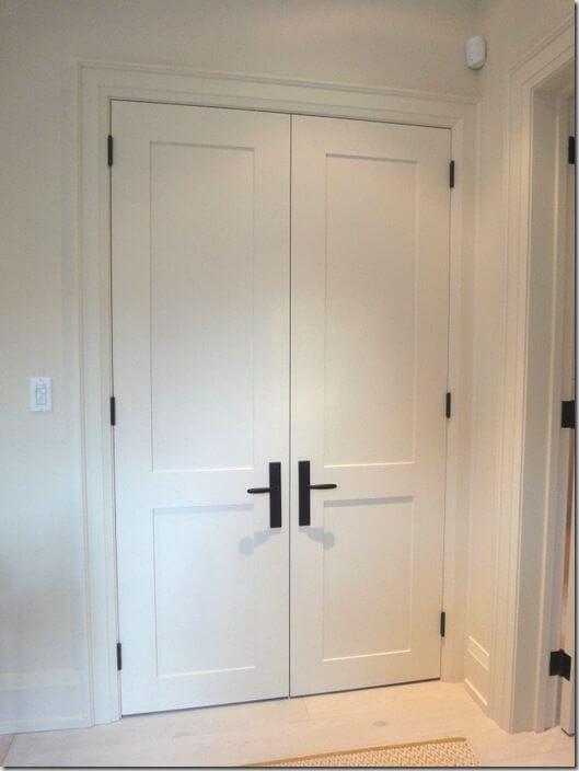 shaker-style-interior-door-black-door-hardware