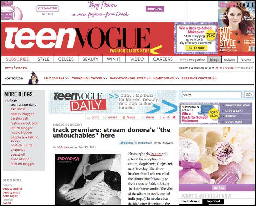 TEEN VOGUE July 2009