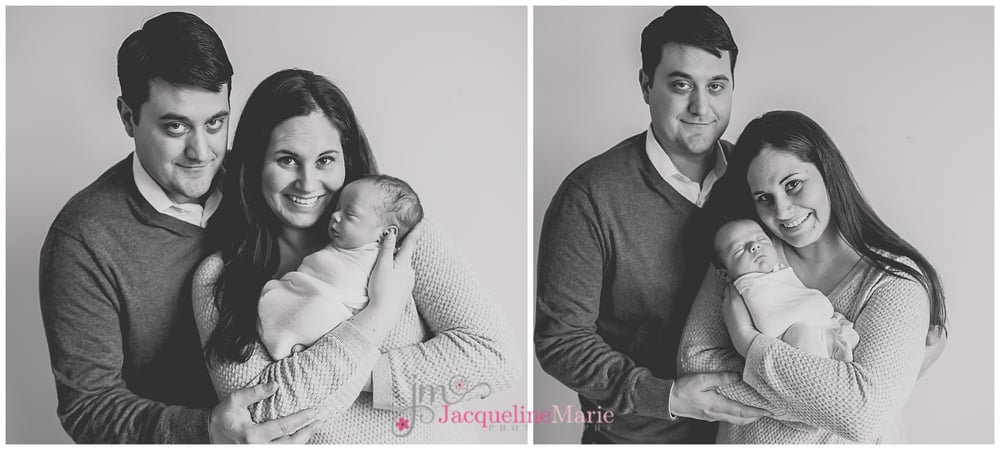 Newborn twin session | Columbus Ohio newborn photographer | newborn parent pose | Jacqueline Marie Photography LLC