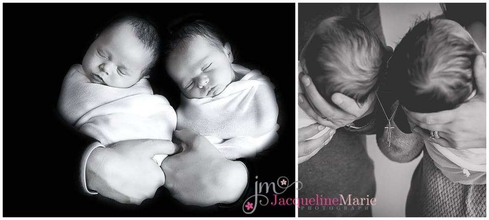 Newborn twin session | Columbus Ohio newborn photographer | Jacqueline Marie Photography LLC