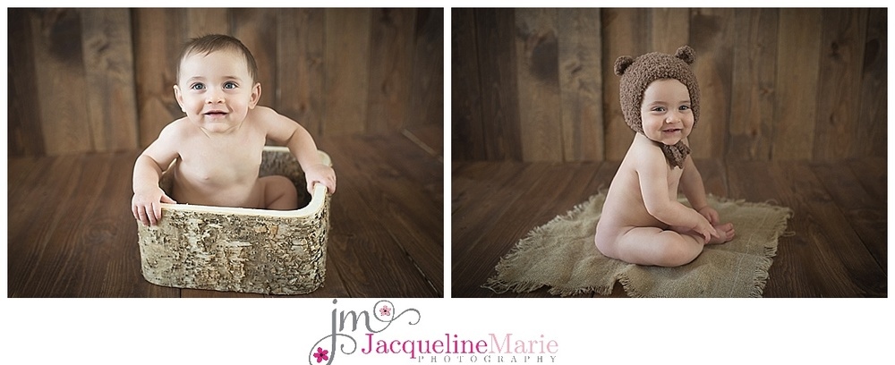 sitter session, 6 month boy, neutral baby session