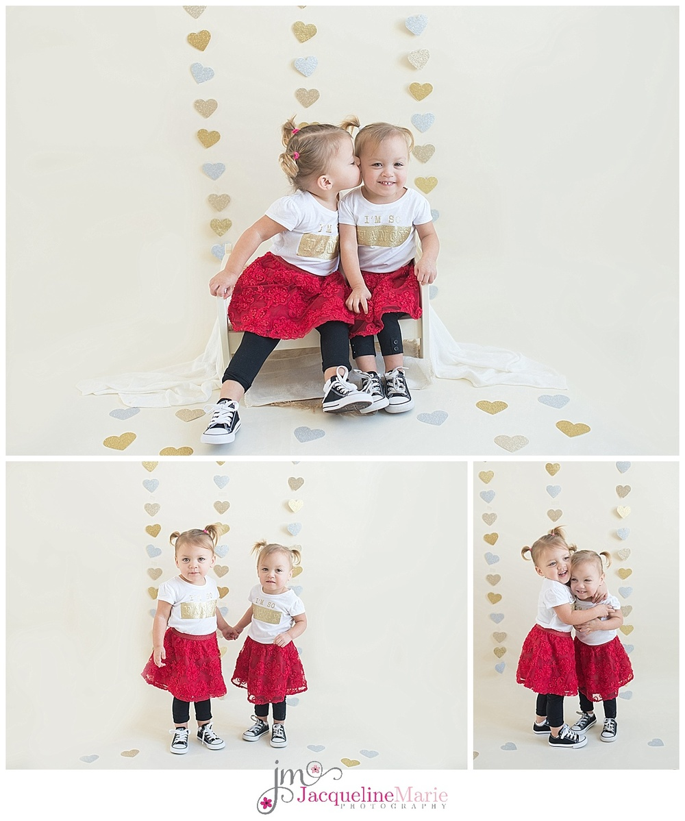 twin sisters | twin sibling photography | twin sisters portrait | Columbus Ohio child photography | children photographer Columbus Ohio | Jacqueline Marie Photography LLC