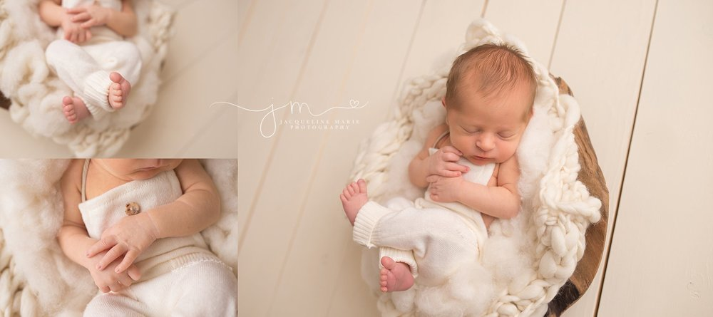 Columbus Ohio newborn photographer features portraits of details of newborn baby hands and feet