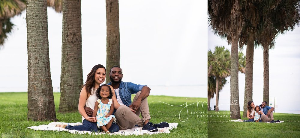 Columbus photographer, family photographer Columbus Ohio, Vinoy St. Petersburg, outdoor family photography, palm tree images