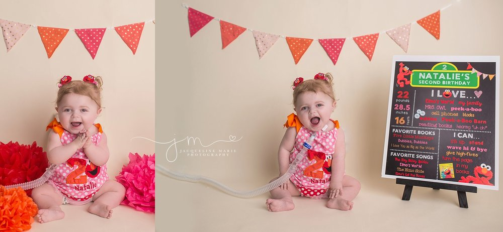 child photography, Columbus Ohio photographer, child birthday photography, Elmo birthday, second birthday portraits, Elmo birthday session