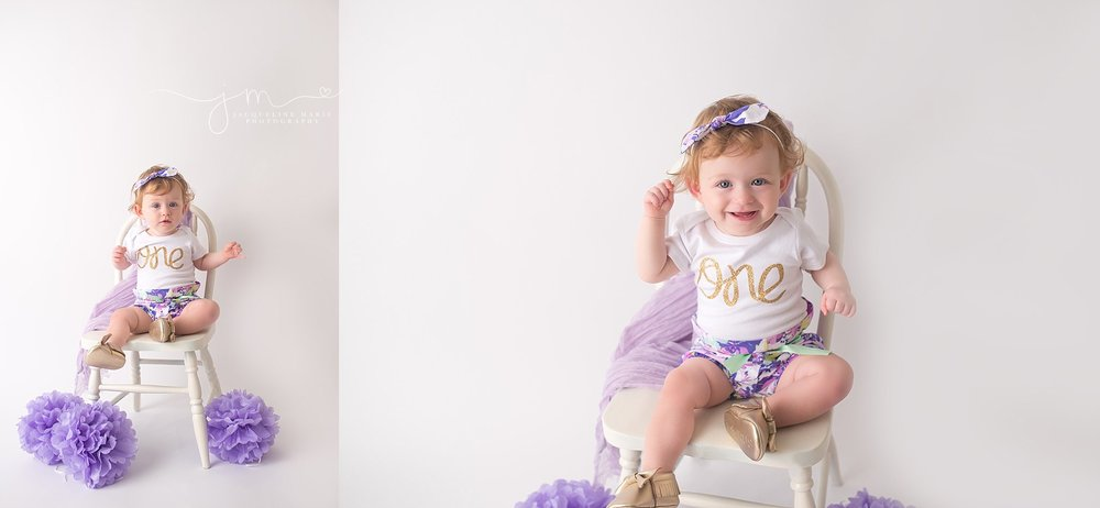Columbus Ohio photographer, Columbus children photographer, first birthday portraits Columbus OH, lavender and gold birthday, first birthday pictures, one year pictures