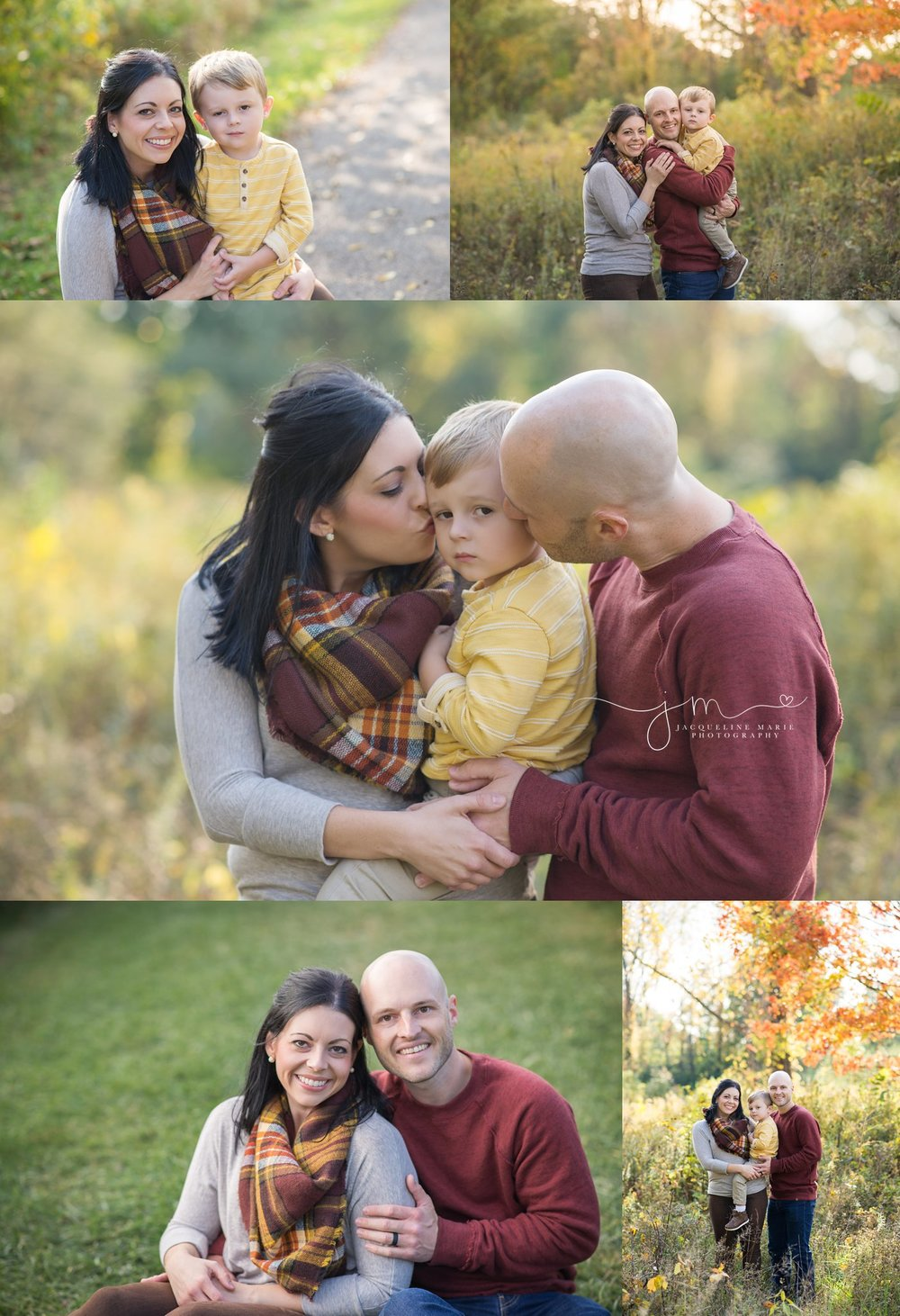Fall-family-session-of-mother-father-and-child-at-beautiful-Sharon-Woods-Park-Columbus-Ohio-photographed-by-JacquelineMariePhotography