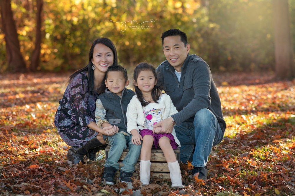 family photography Columbus Ohio, Columbus Ohio family photographer, fall family portraits, family of four pose